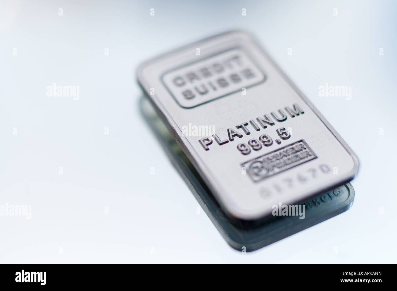 Platinum Bullion bar / ingot - Stock Image