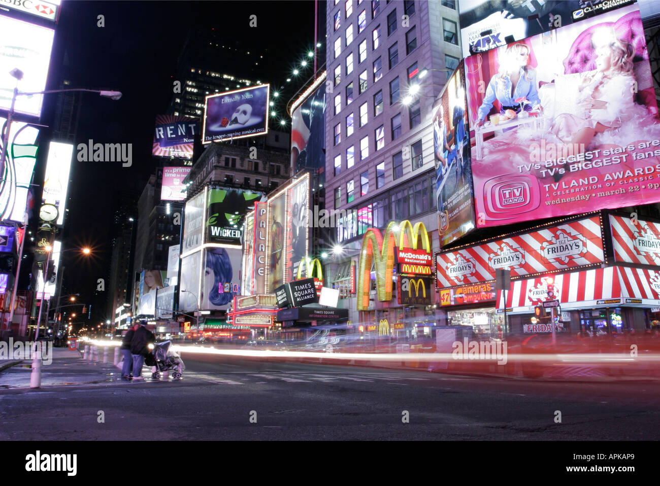 Time Square, New York  Dazzling lights of the city that never sleeps