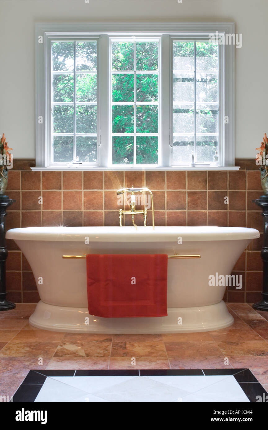 Deep Bath Tub In Luxury Bath Room Stock Photo: 9035843 - Alamy