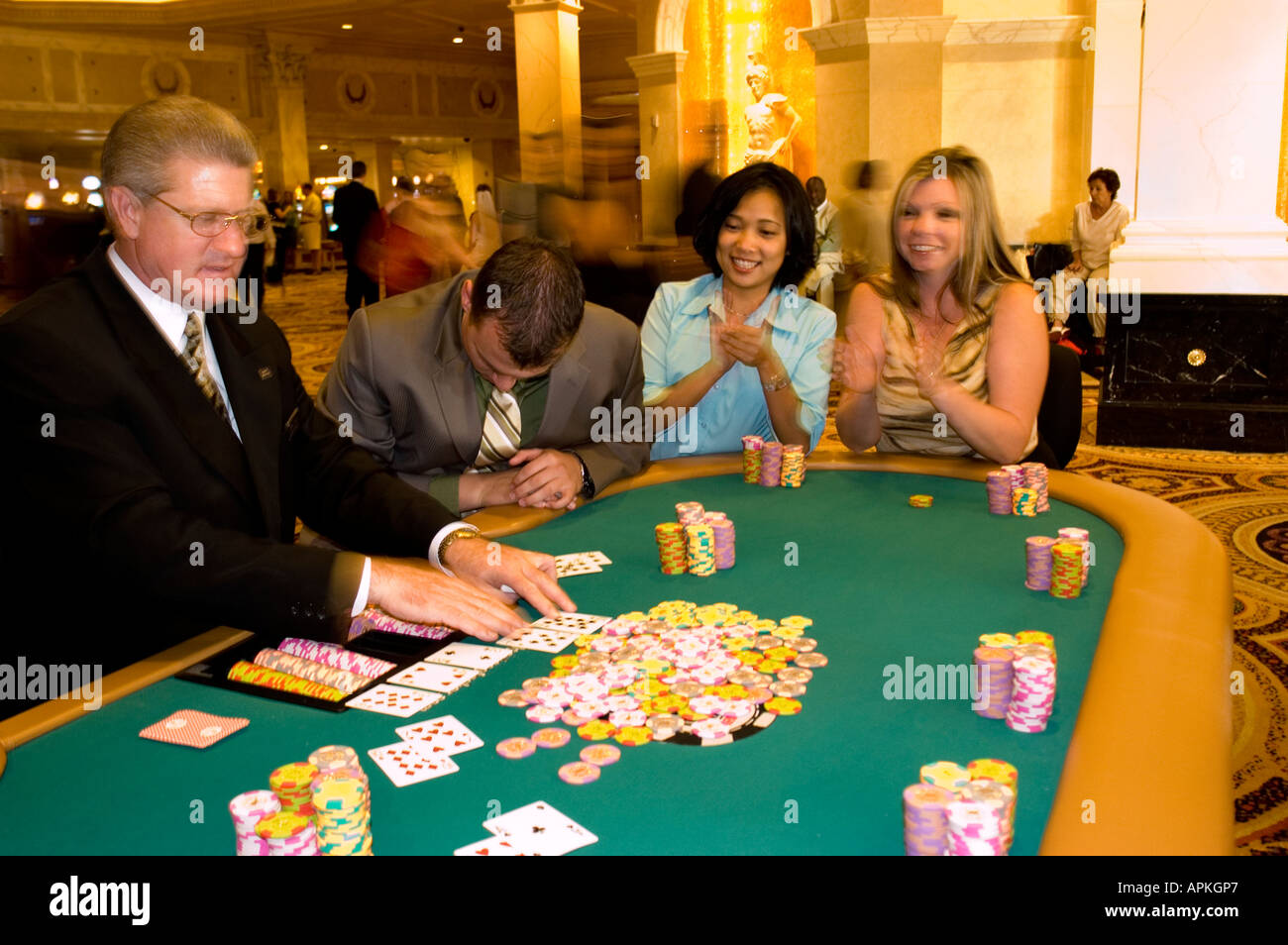 Nevada Caesars Palace and Casino gaming gambling poker - Stock Image