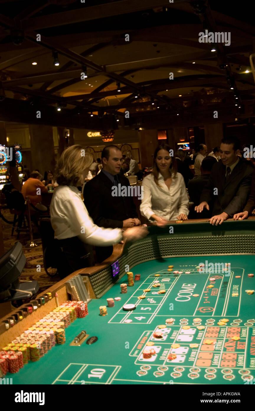 Craps table in Las Vegas Nevada Caesars Palace and Casino - Stock Image