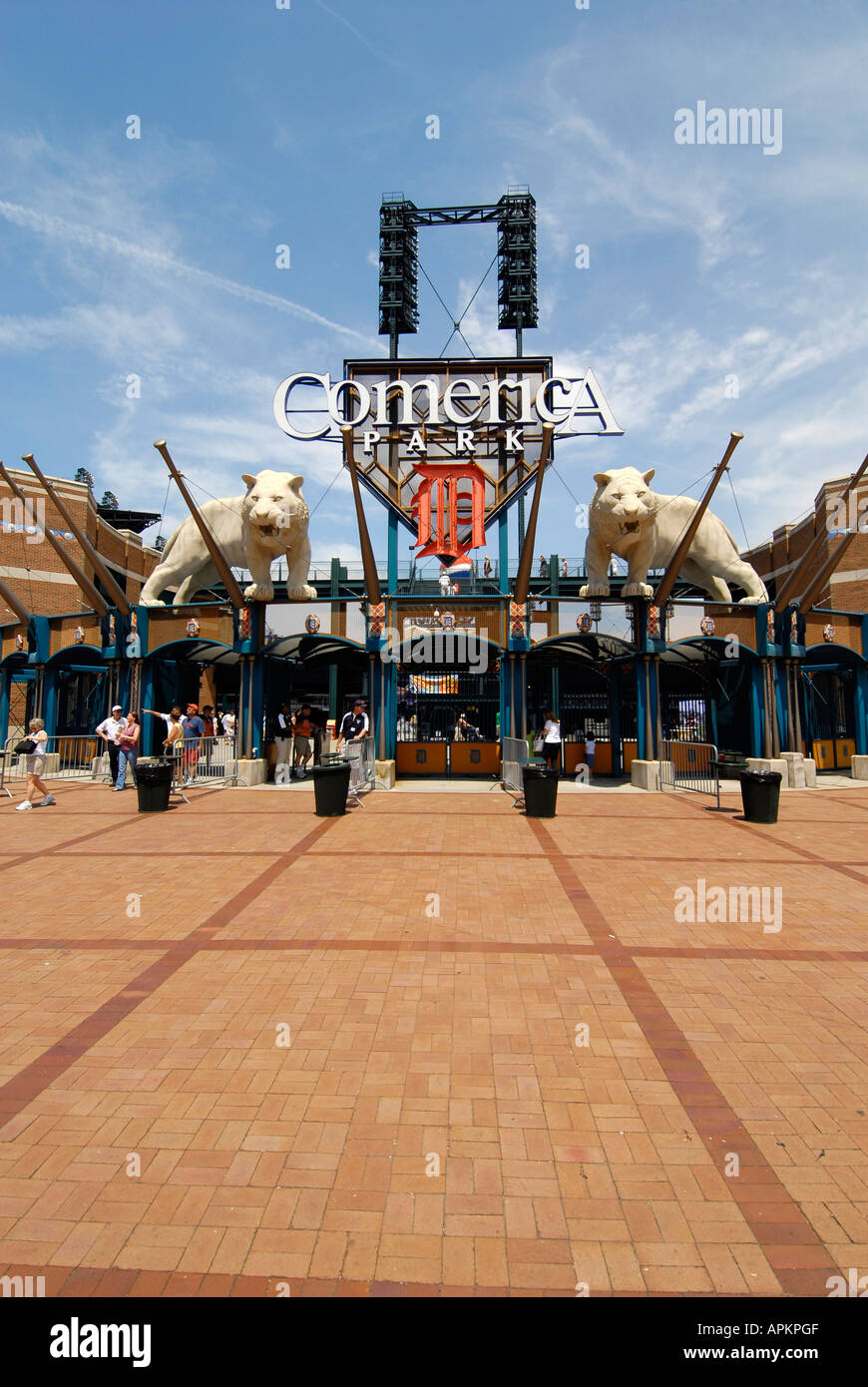 Comerica Ball Park home of the Detroit Tigers professional baseball team - Stock Image