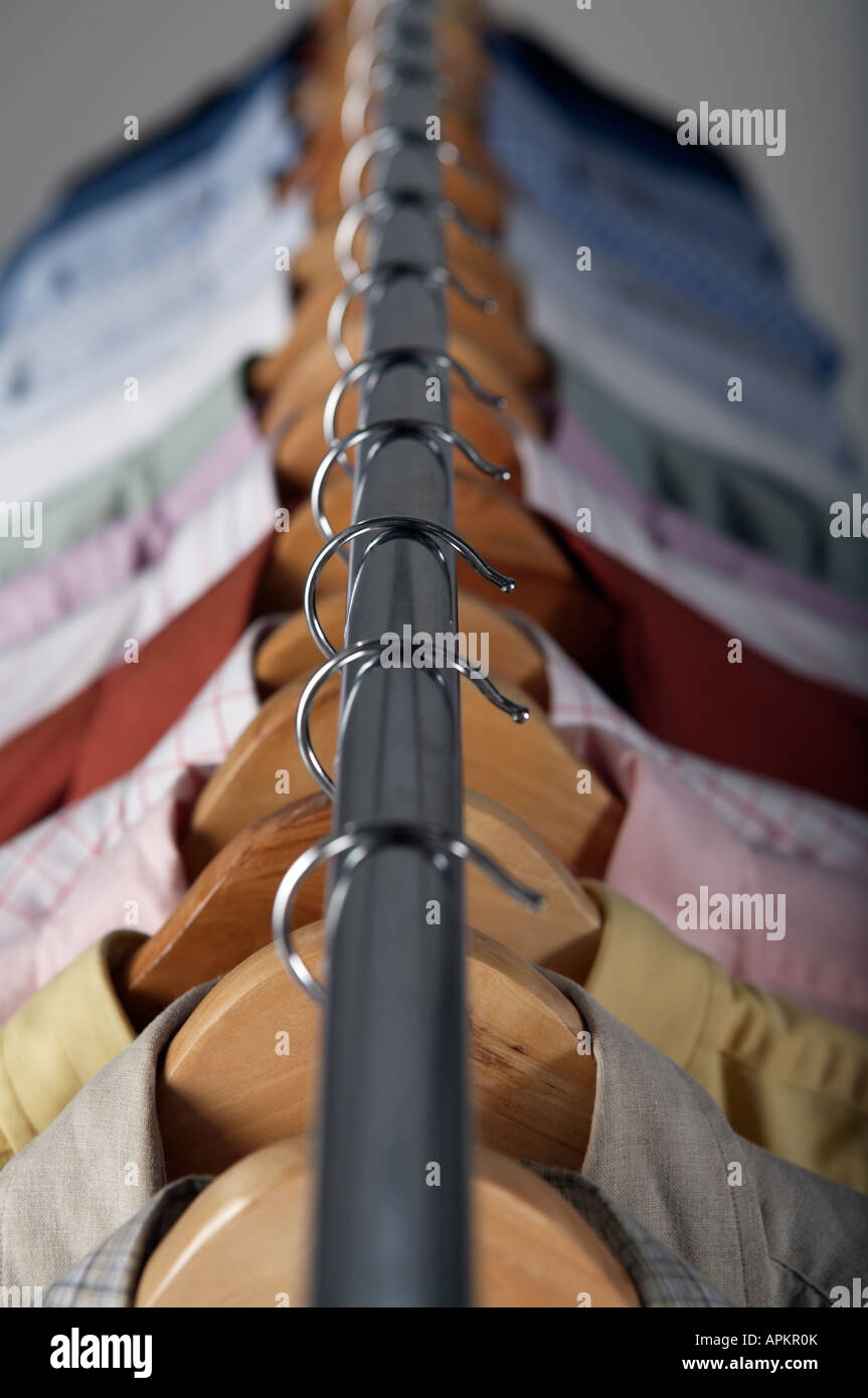 Clothing rack - Stock Image