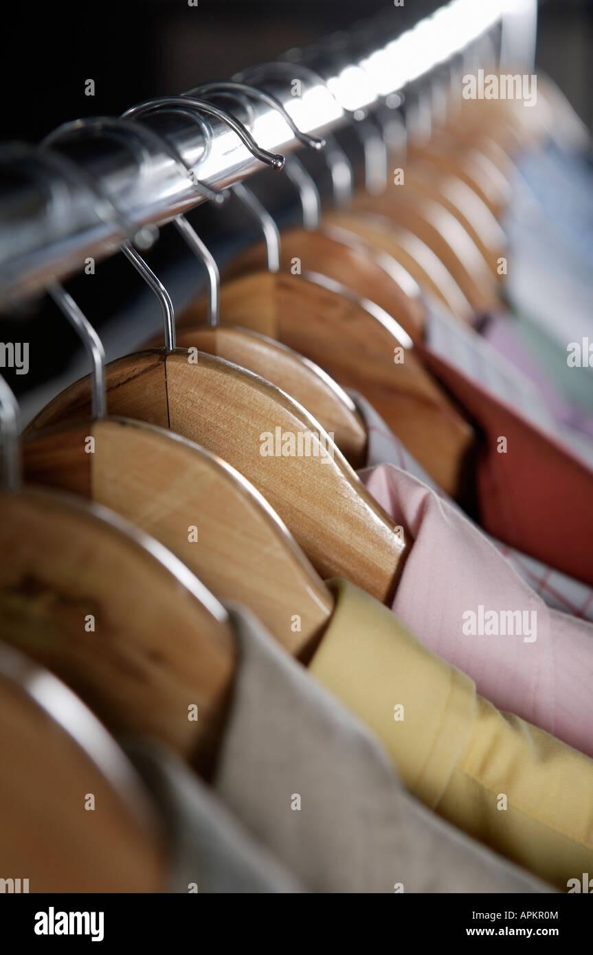 Clothing rack Stock Photo