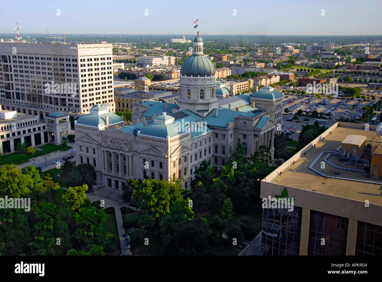 The State Capitol Building at Indianapolis Indiana IN - Stock Image