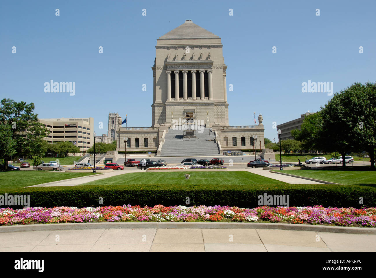 University Park World War Memorial combating the War history located downtown Indianapolis Indiana IN - Stock Image