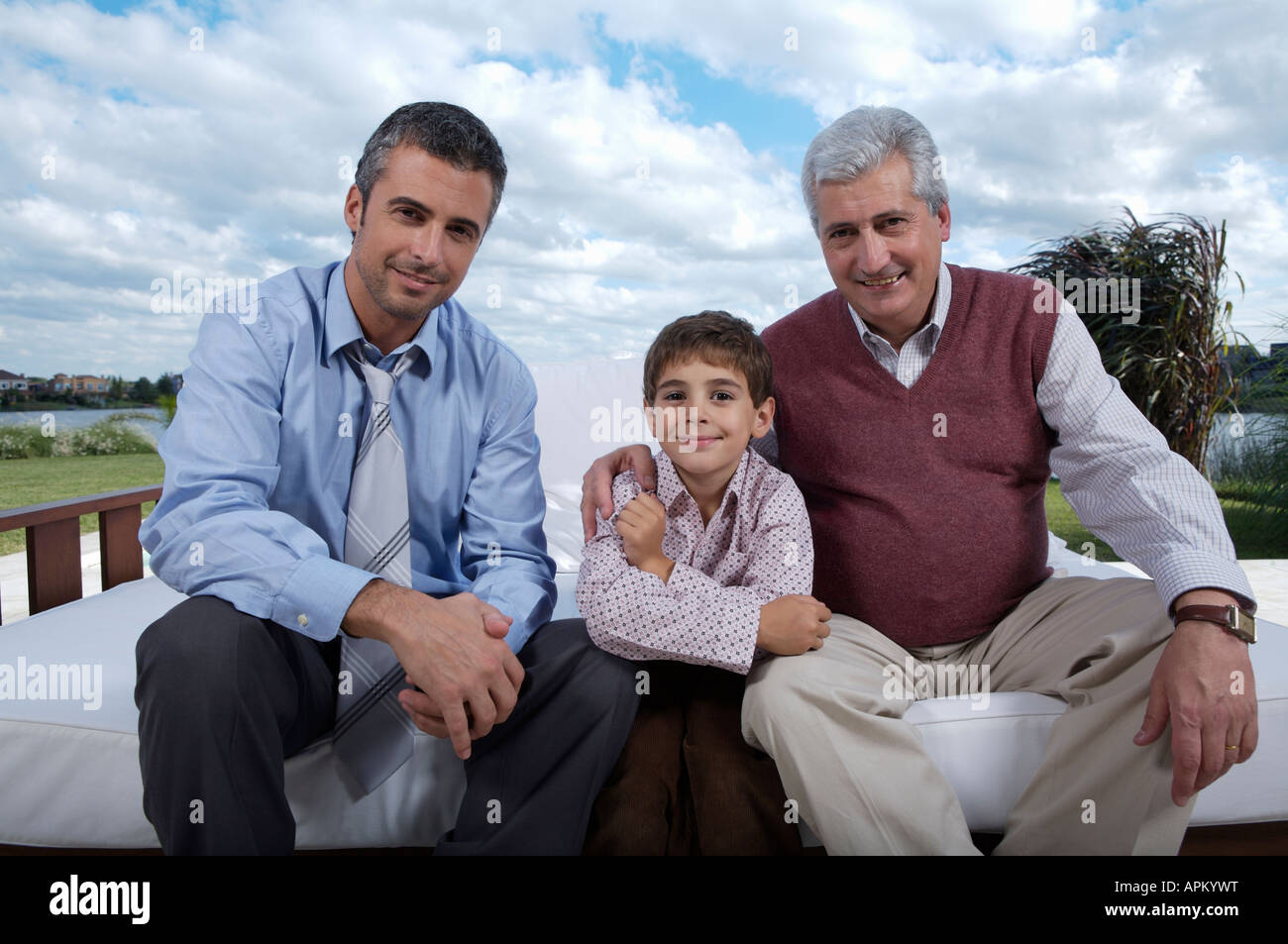 Three generations - Stock Image