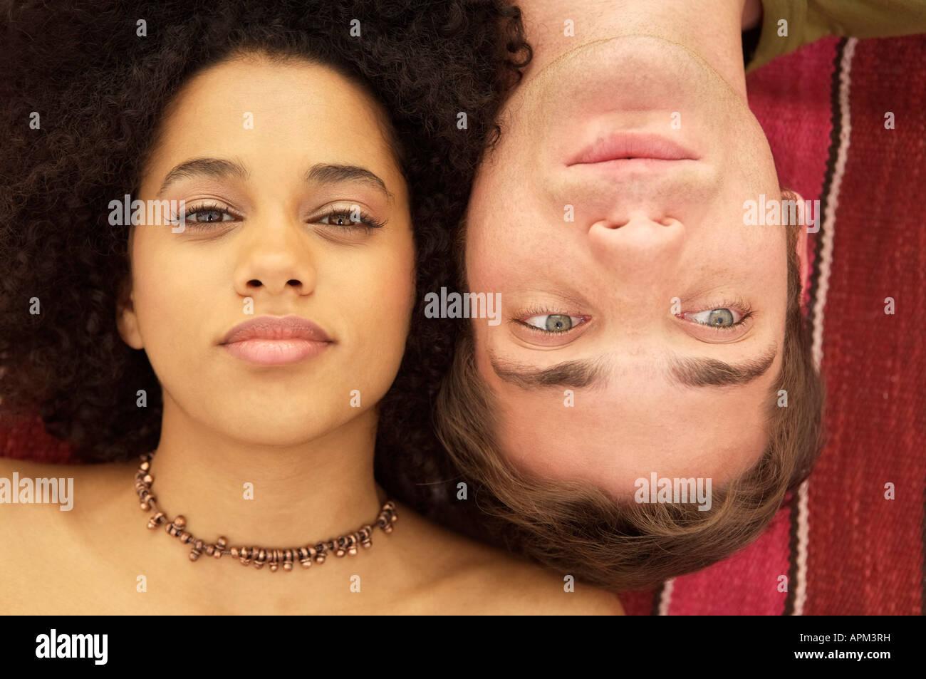 Portrait of couple - Stock Image
