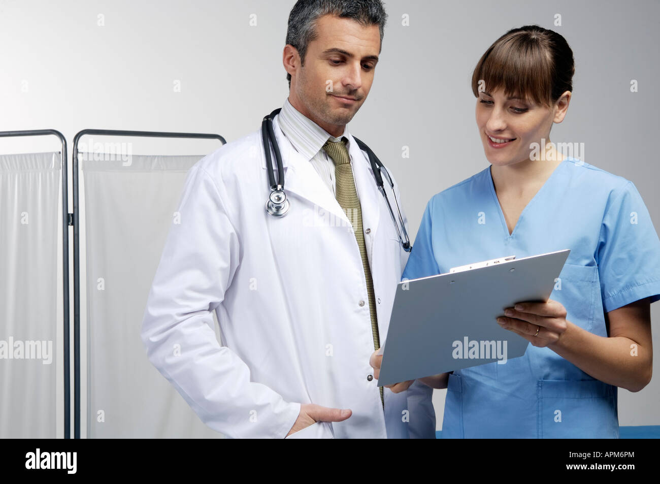 Male and female doctors - Stock Image