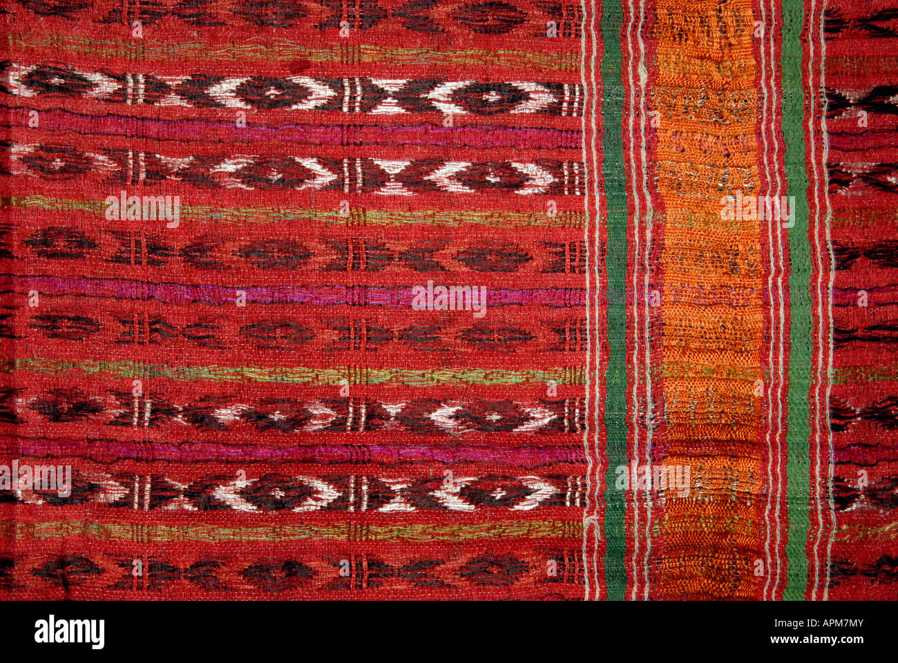Sumptuous silk textile from India. Note If Used in an editorial or scholarly context please credit Collection Ann - Stock Image