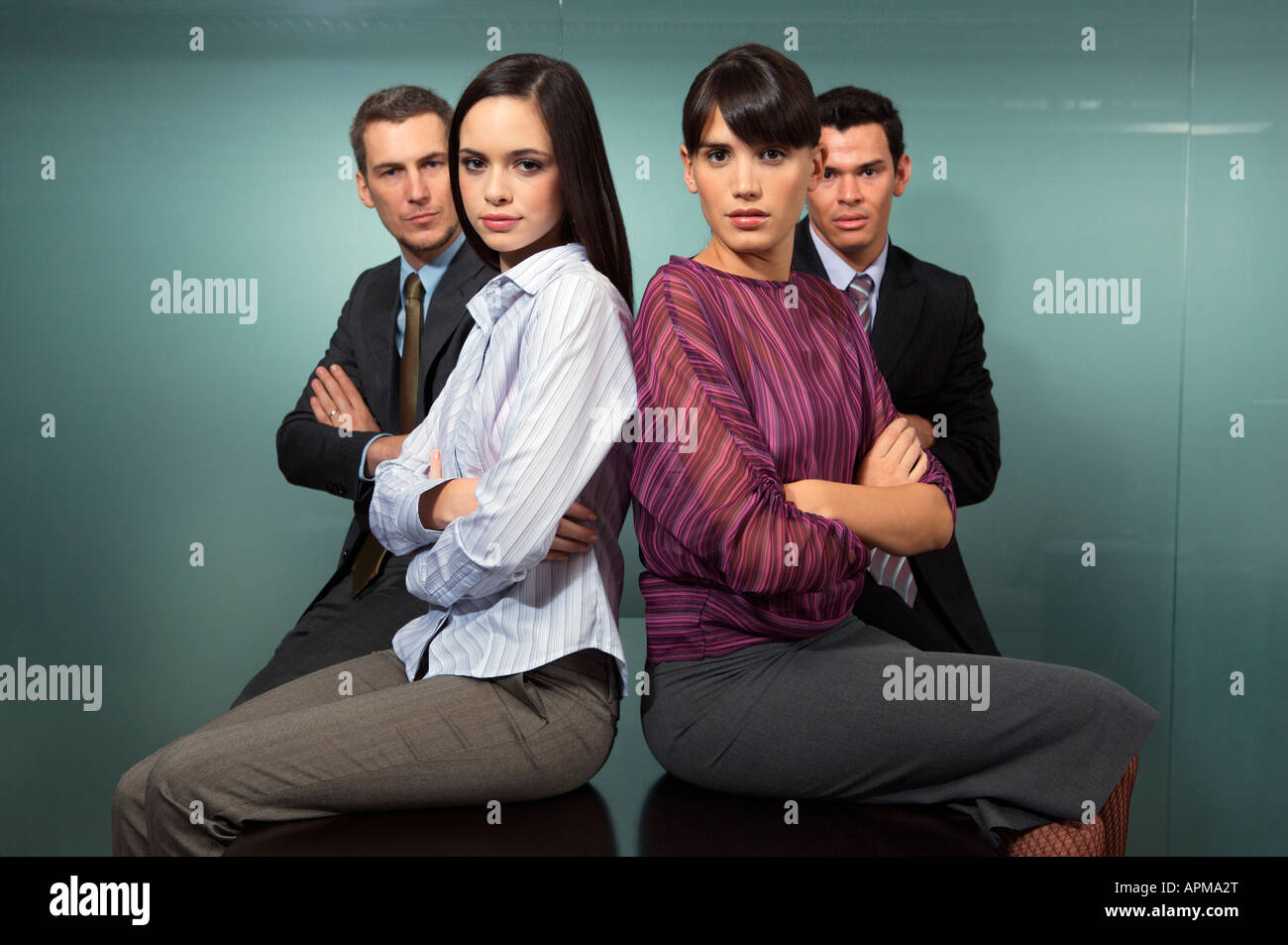 Portrait of business people Stock Photo