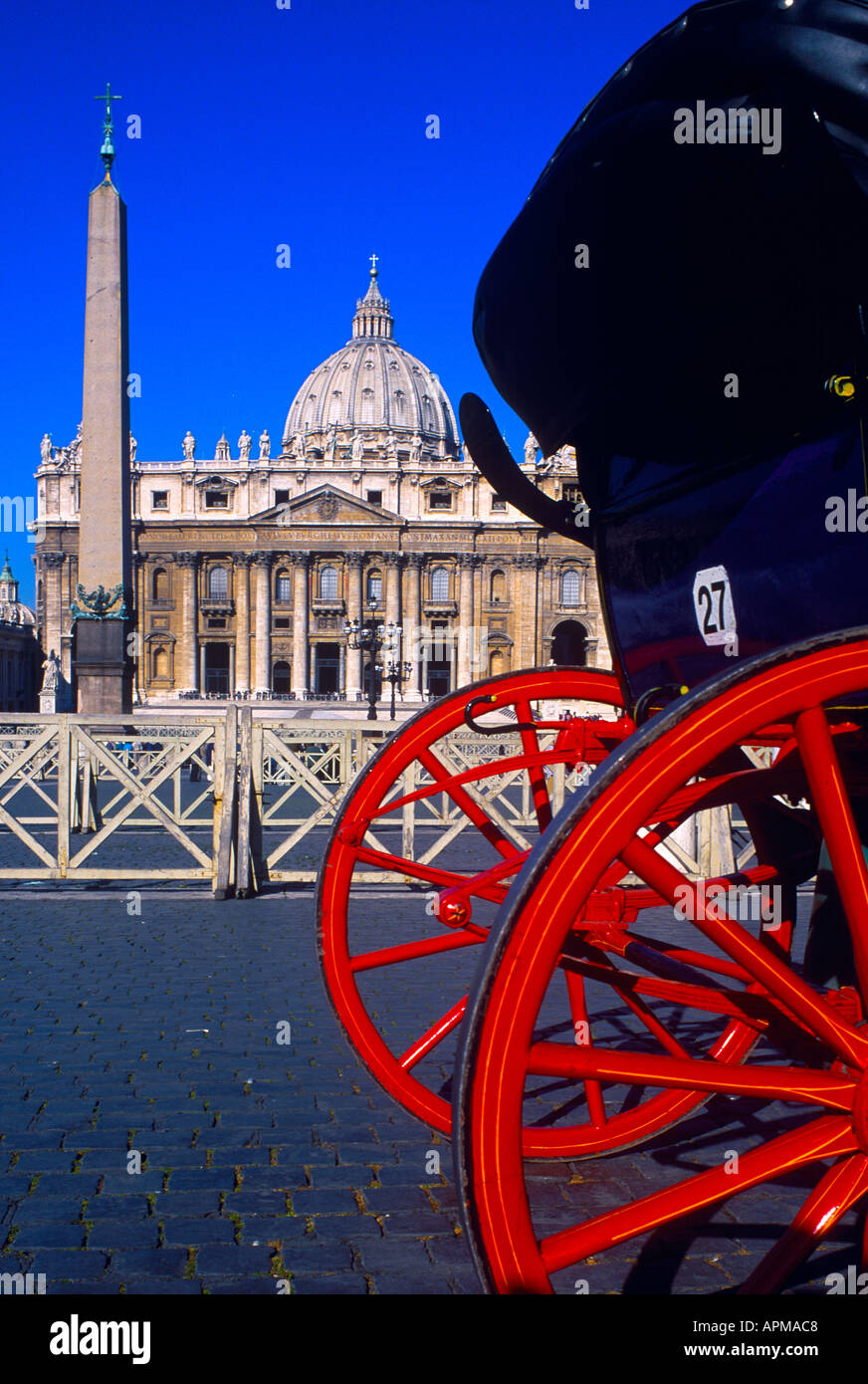 ST PETER S BASILICA ROME ITALY - Stock Image