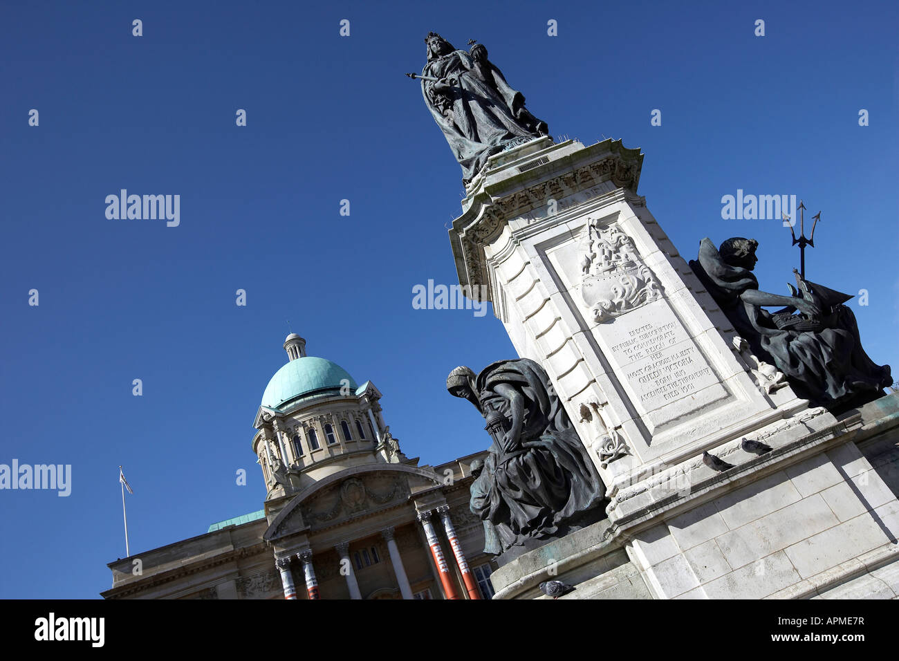 The Queen Victoria statue on top of the public toilets outside of ...