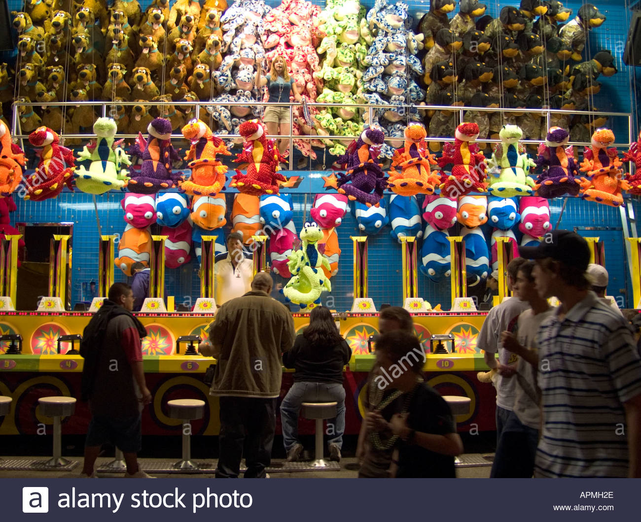 Carnival Game at the 2005 Los Angeles County Fair Pomona California - Stock Image