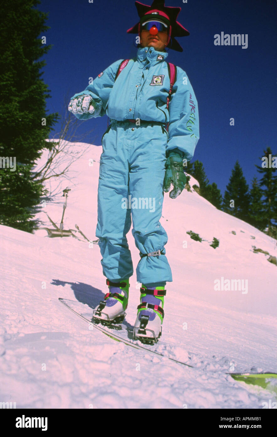 SNOWBOARDING IN THE 80's - Stock Image