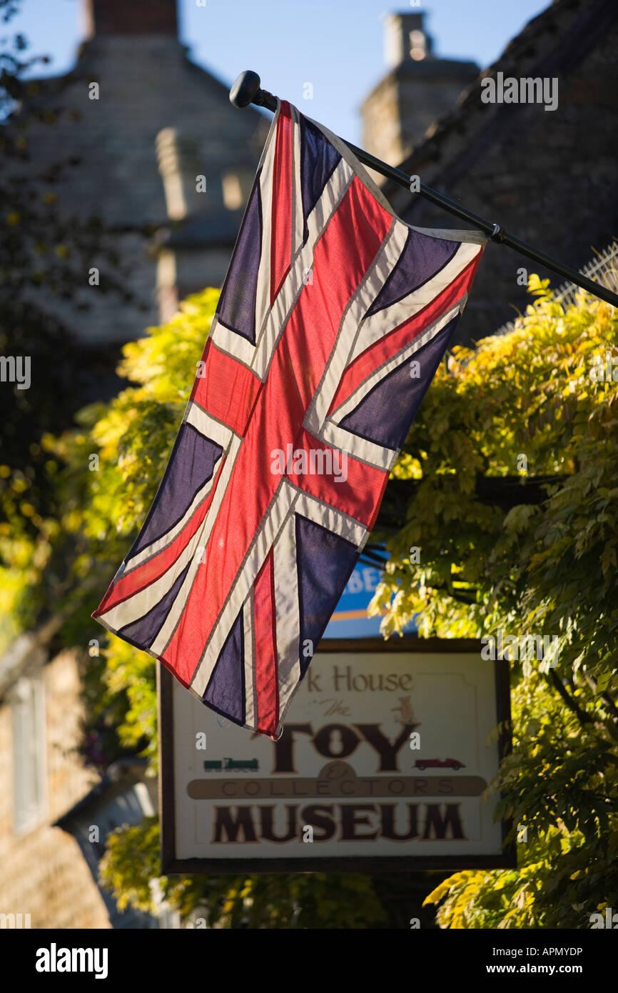 Union Jack flag Stow on the Wold Gloucestershire UK Stock Photo