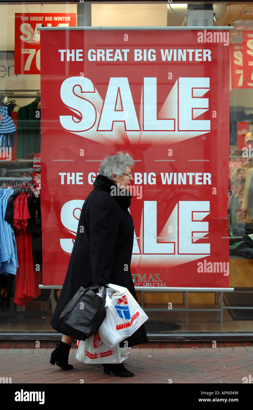 Sale poster, Great Big Winter Sale, UK Stock Photo