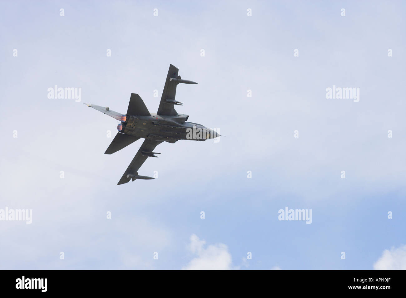 Tornado G4 with afterburn turning and climbing away Stock Photo