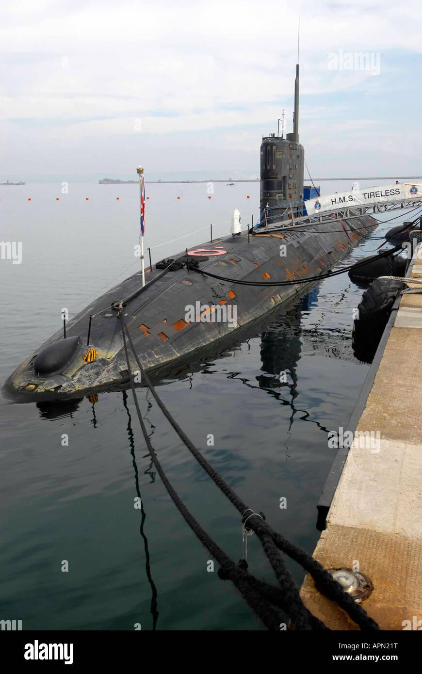 HMS Tireless nuclear submarine (S88) - Stock Image