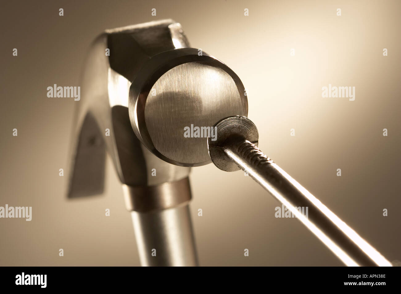 Hitting the Nail on the Head Hammer Concept Stock Photo: 2937741 - Alamy