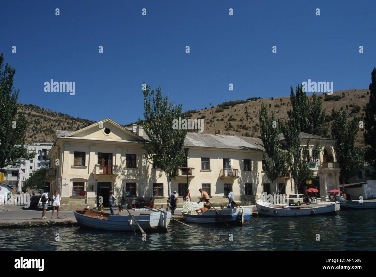 Old port of Balaclava in the Crimea on Ukraine s Black Sea coast - Stock Image