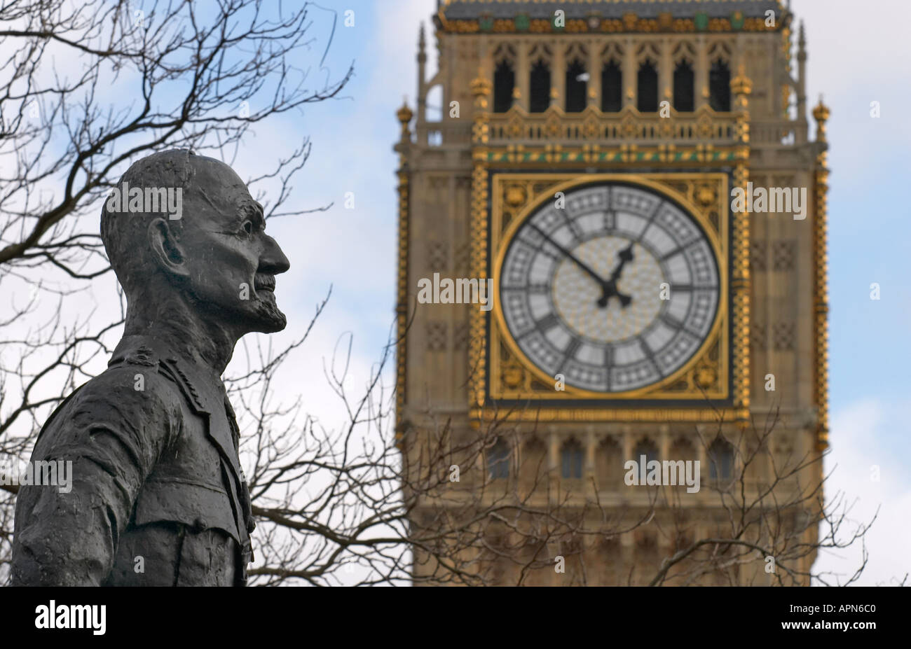 Statue of Jan Christian Smuts at Westminster London England - Stock Image