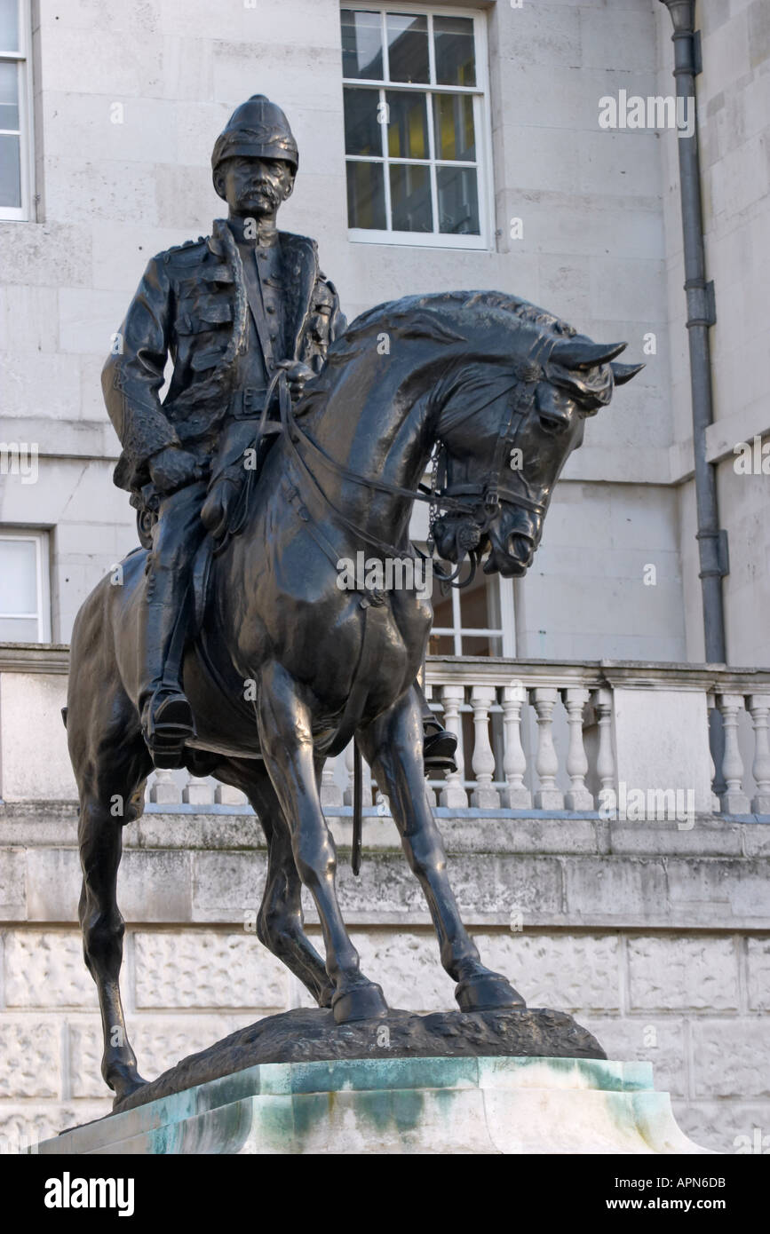 Statue of Field Marshal Lord Frederick Roberts VC at Horse Guards Parade London England - Stock Image
