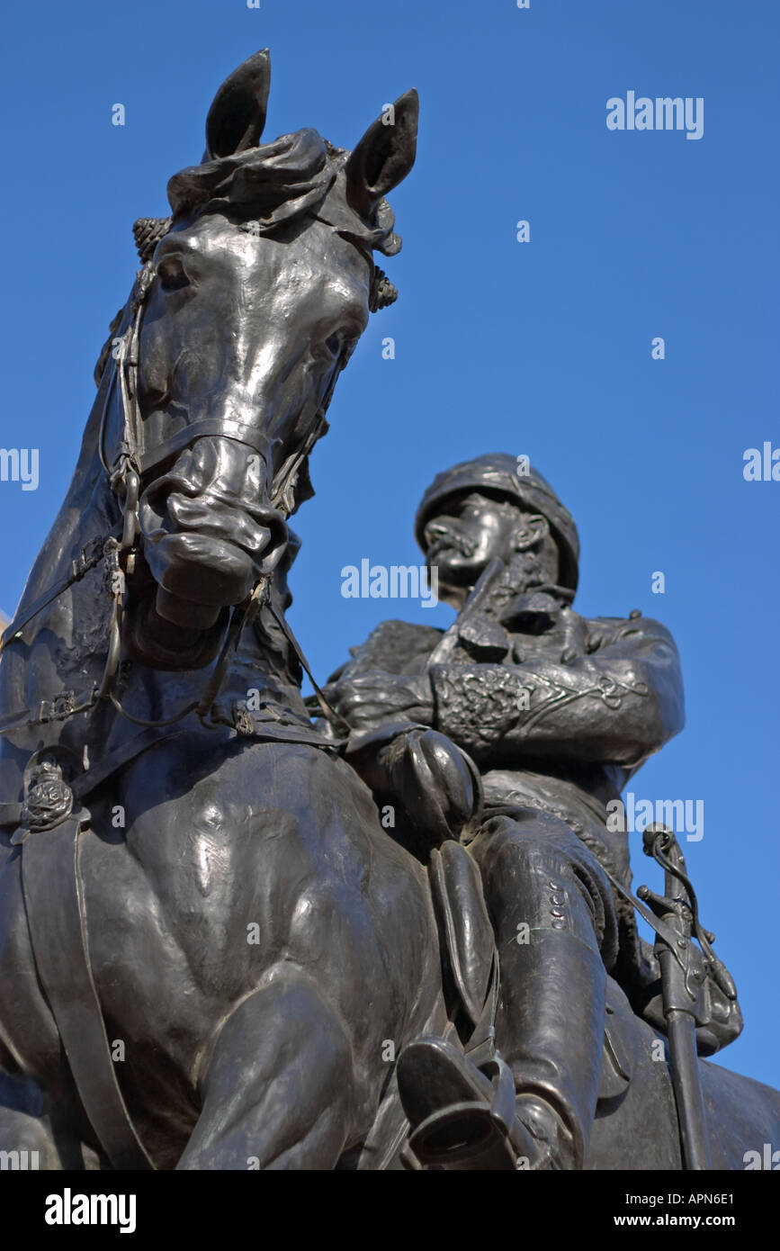 Statue of Field Marshal Lord Frederick Roberts VC at Horse Guard s Parade London England - Stock Image