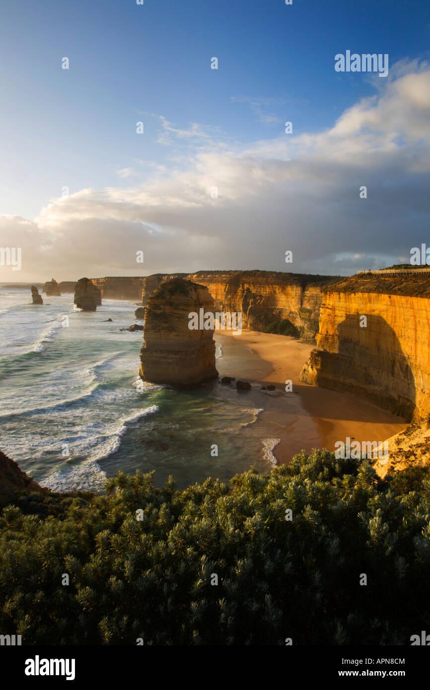Sunset at The Twelve Apostles Great Ocean Road Victoria Australia - Stock Image
