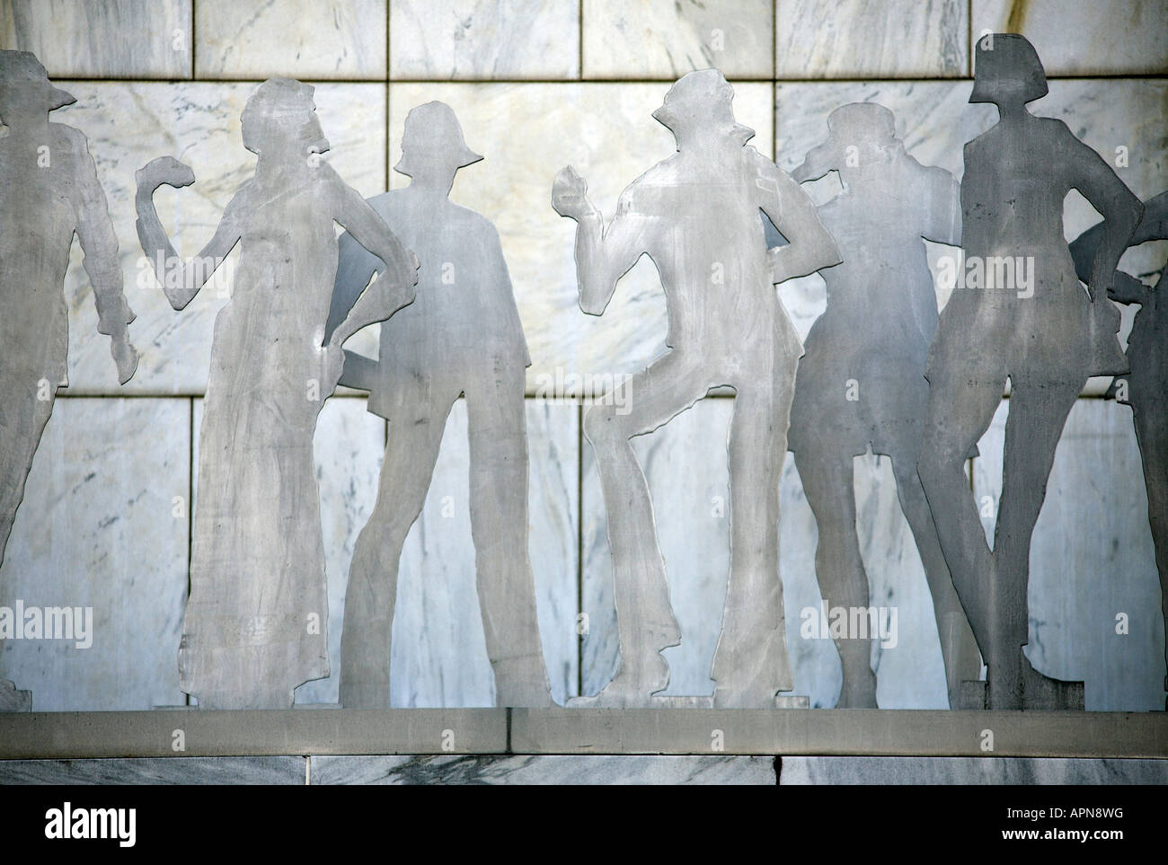 Cut outs of people. Albany, Albany County, New York State, USA - Stock Image