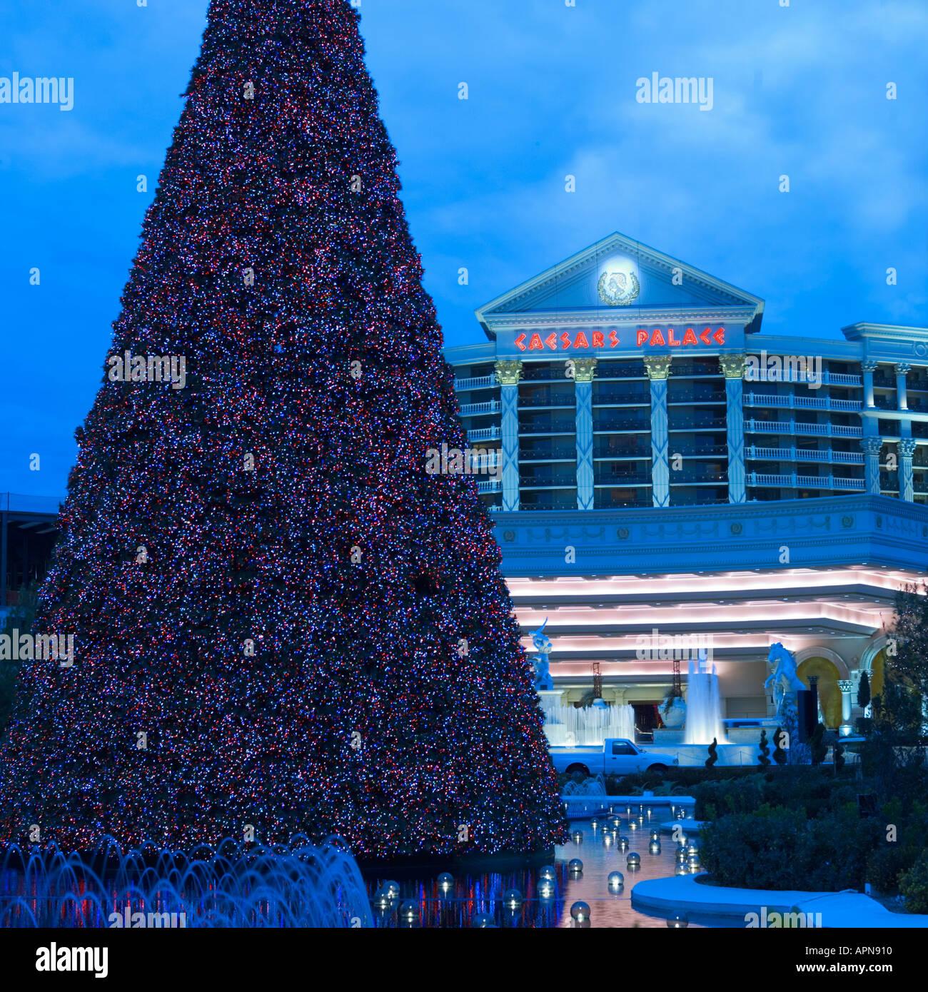Christmas Tree Las Vegas USA - Stock Image