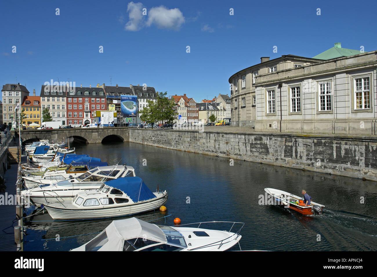Stormbroen is a bridge connecting Slotsholmen with Copenhagen City - Stock Image