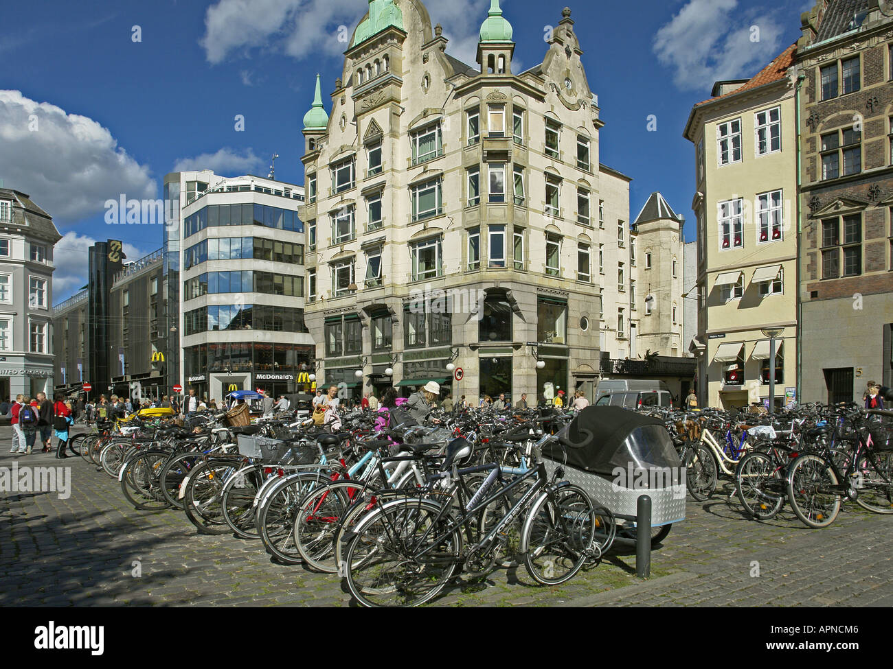 The north end of Hojbro Plads (Square) in the City of Copenhagen - Stock Image