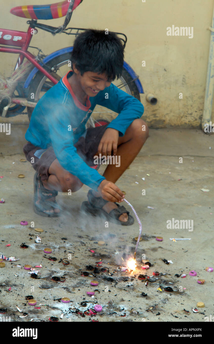 Diwali Festival Boy High Resolution Stock Photography And Images Alamy