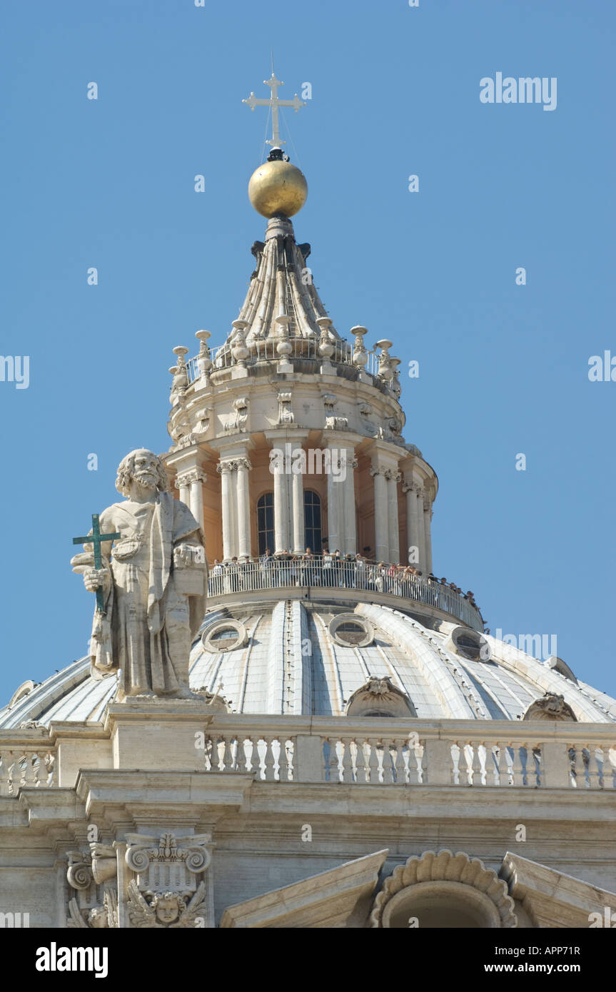 The Top Of The Dome Of St Peter's Cathedral, Vatican City