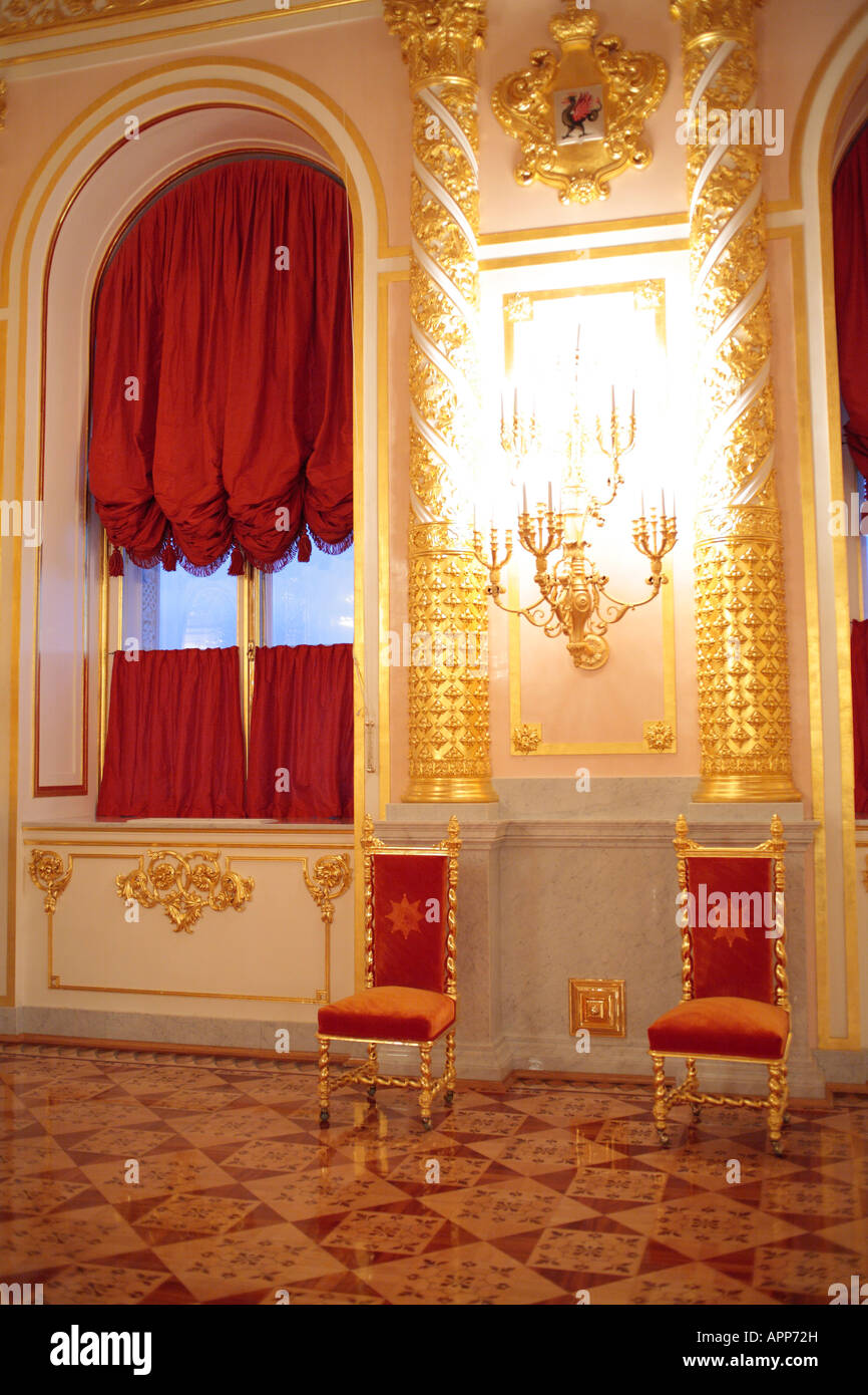 Interior of Official residence of President of Russian Federation, Kremlin, Moscow, Russia - Stock Image