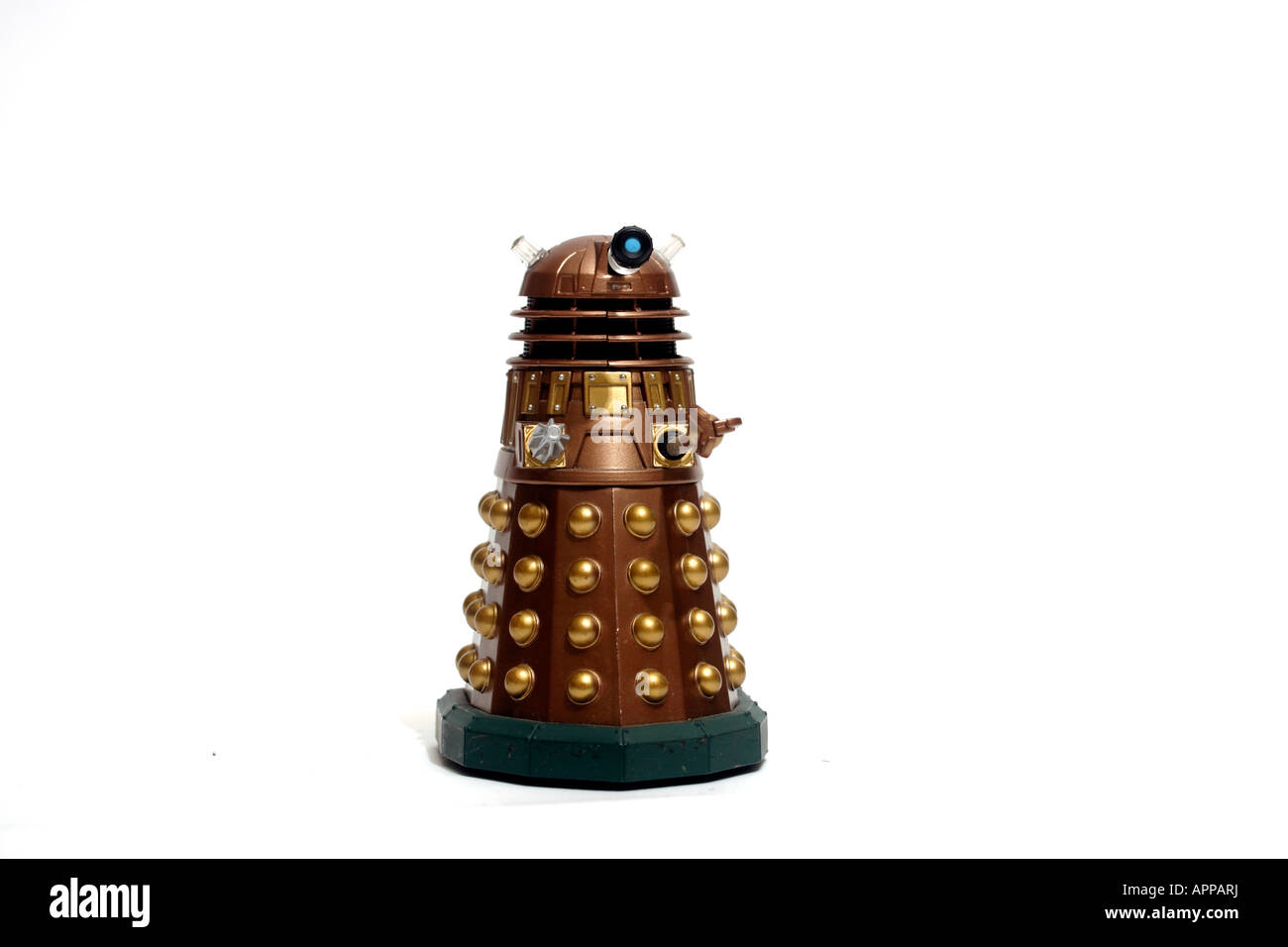 A Dalek model toy, from the BBC Television series Doctor Who - Stock Image