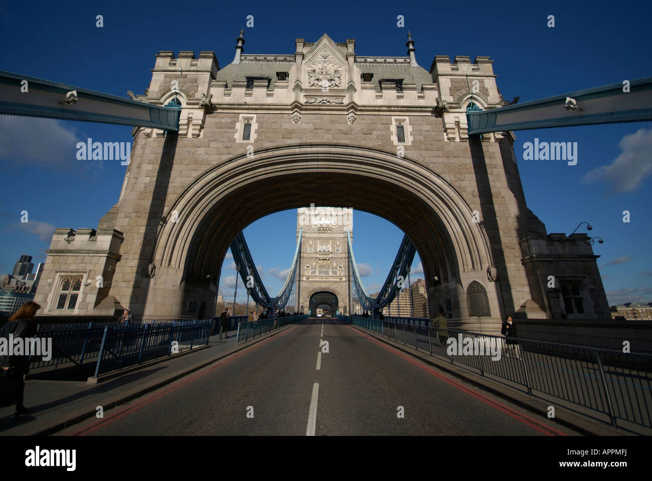 The South Entrance To Tower Bridge London Stock Photo