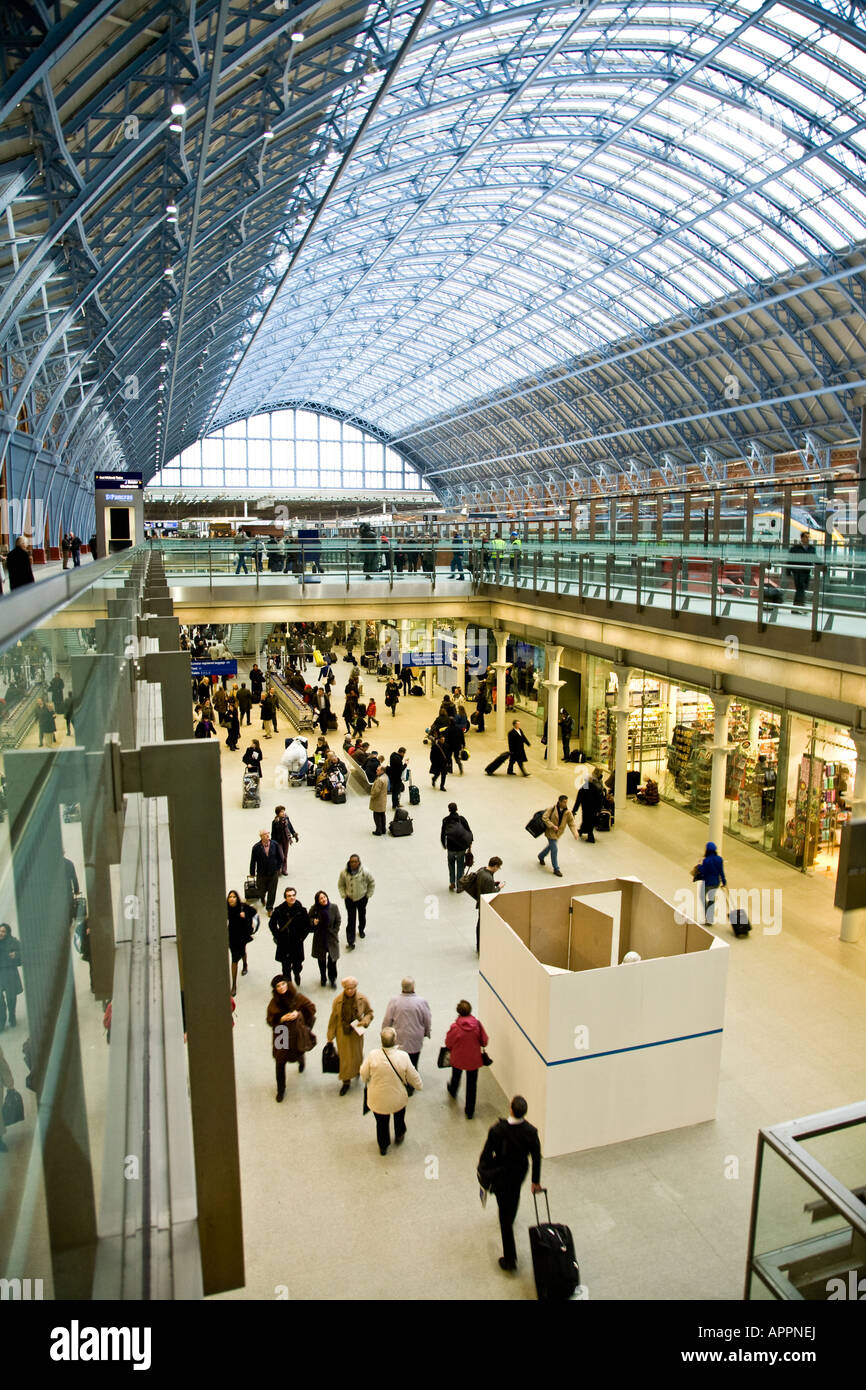 The Main Concourse at St Pancras station - Stock Image