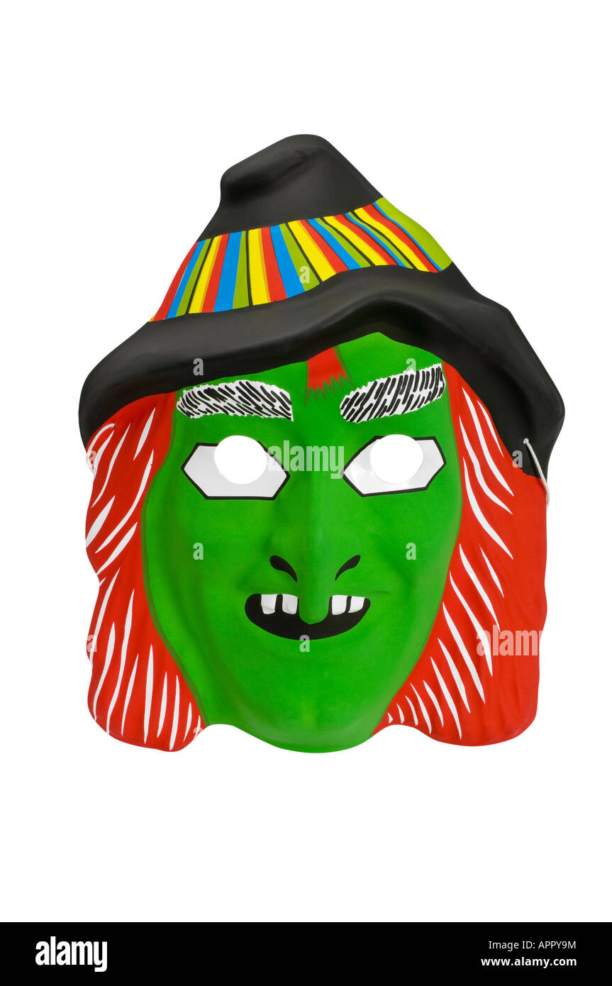 Halloween witch mask - Stock Image
