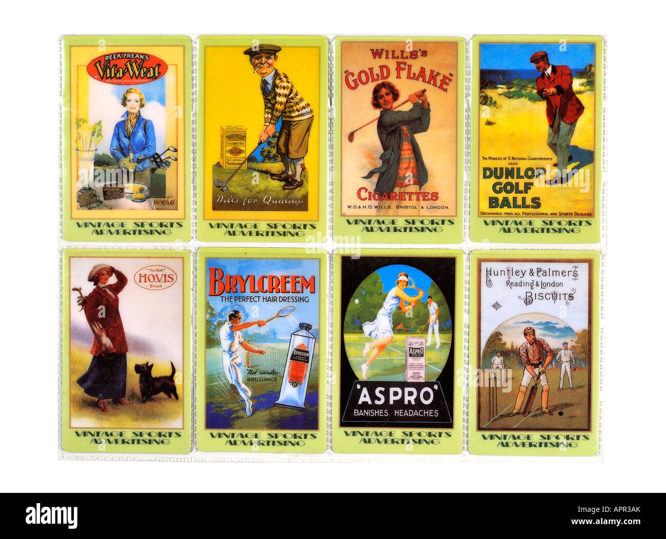Unicom Phonecard Collection Limited Edition of Vintage Sporting Advertising For Editorial Use Only - Stock Image