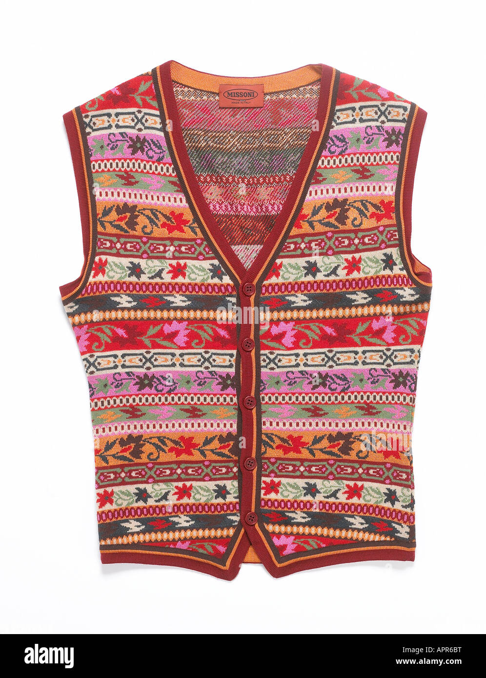 a knitted tank top - Stock Image