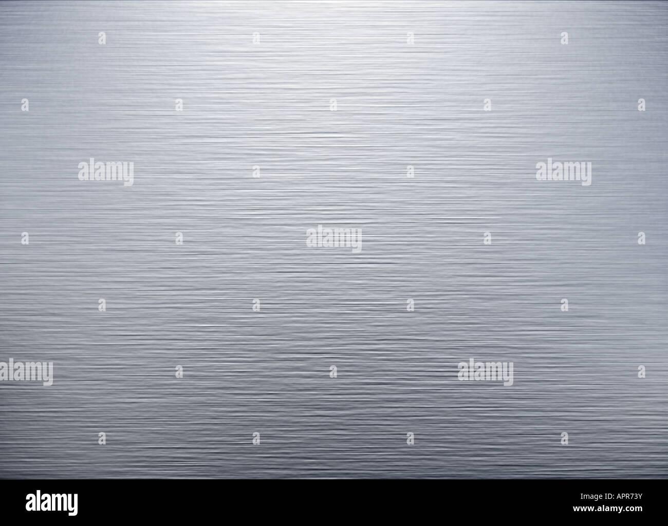 very large sheet of brushed steel metal Stock Photo