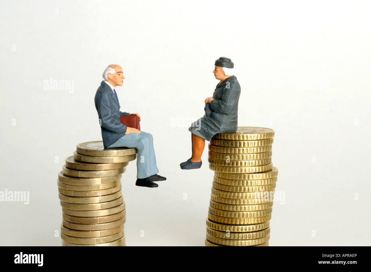 Pensions / savings concept - Stock Image