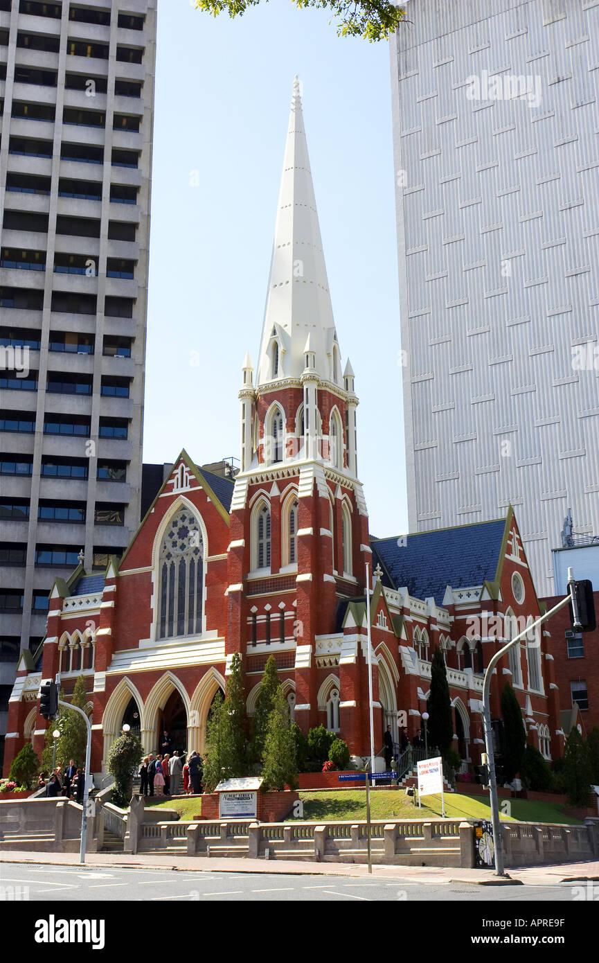 Albert Street Uniting Church Methodist Presbyterian Brisbane Queensland Australia - Stock Image