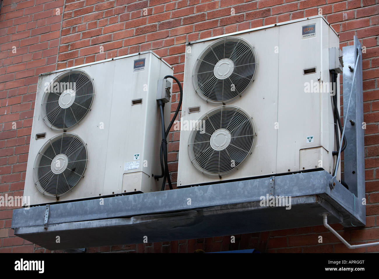 Exterior Mounted Air Conditioning Units Stock Photos