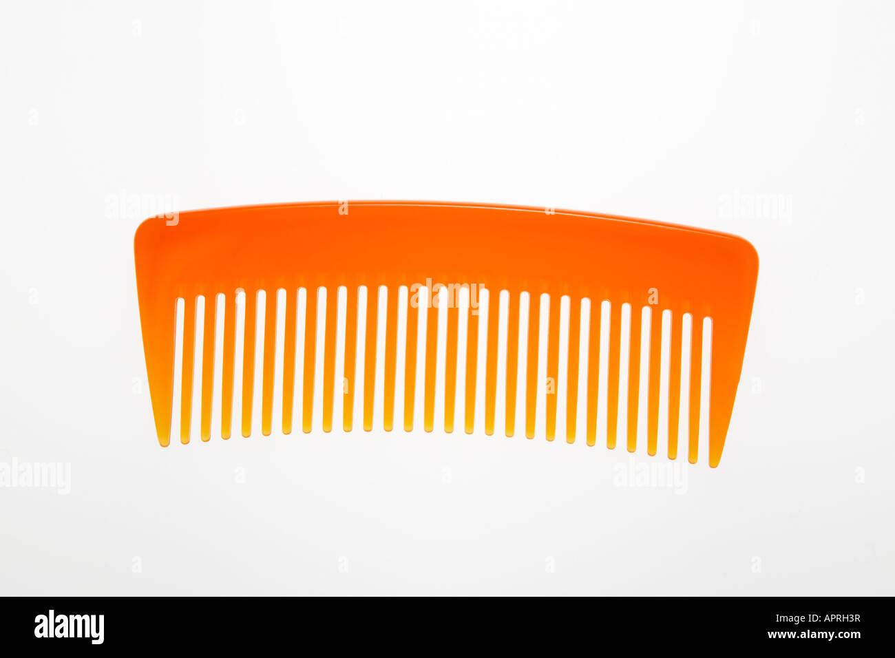 Plastic comb - Stock Image