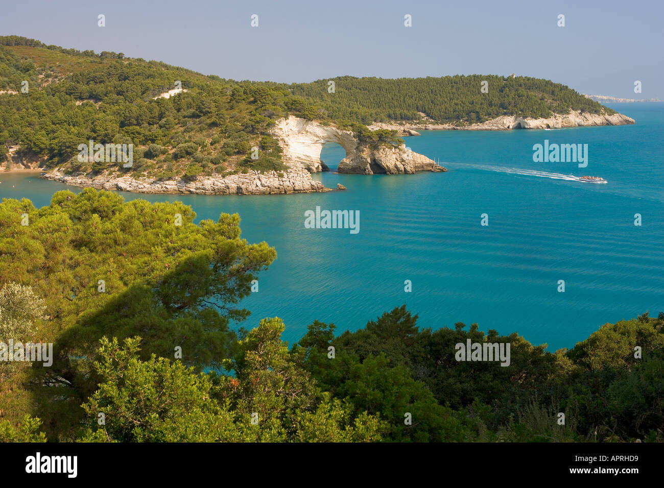 Near Vieste Promontorio Del Gargano Puglia Italy - Stock Image