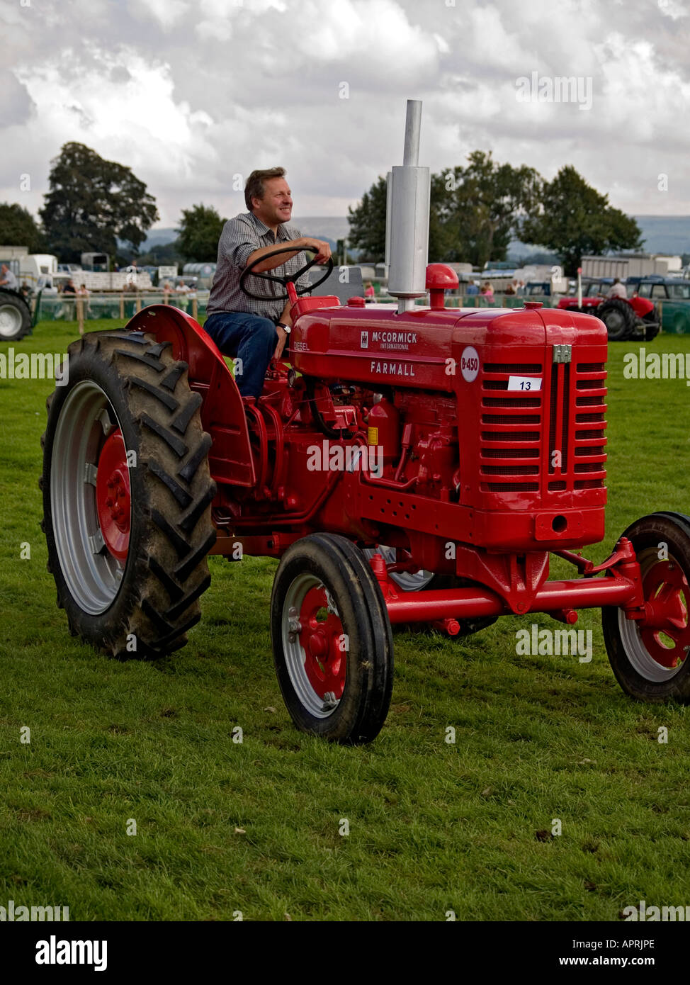 A McCormick International B450 vintage tractor, at Stokesley Agricultural  show, 2006. - Stock