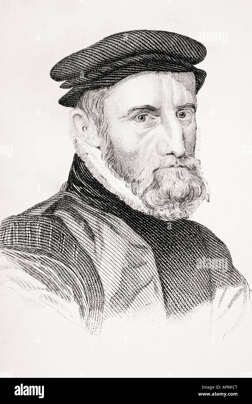 Sir Thomas Gresham 1518/19 1579  English merchant financier and founder of the Royal Exchange Stock Photo